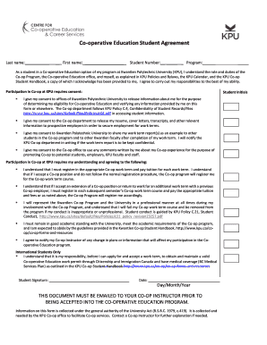 co operative education student agreement kwantlen polytechnic bb - Best Free Resume Builders
