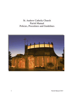 St Andrew Church Manual 2015 - St Andrew Catholic Church