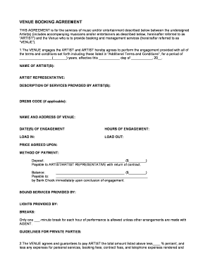 music artist management contract pdf
