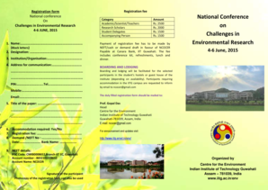 Registration form National Conference on Challenges in