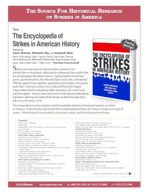 New The Encyclopedia of Strikes in American History