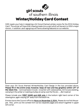 Holiday Card Contest - Girl Scouts of Southern Illinois