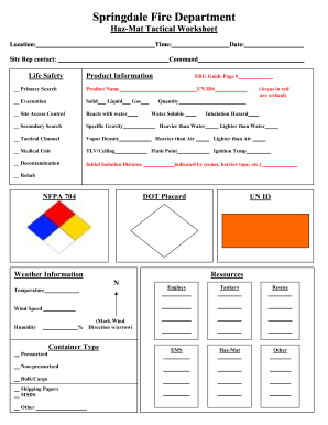 Structure Fire Tactical Worksheet on Fireground Tactical Worksheet