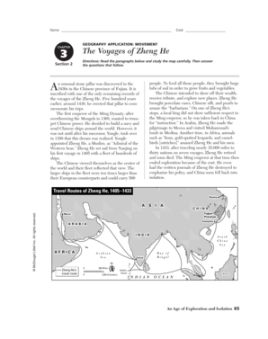 The Voyages Of Zheng He Worksheet Answer Key - Fill Online ...