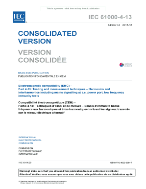 This is a preview click here to buy the full publication IEC 61000413 Edition 1 - webstore iec