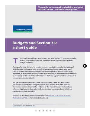 Budgets and Section 75 a short guide - ECNI - equalityni