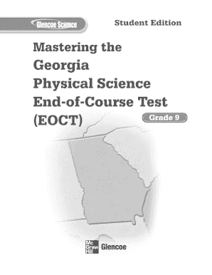 Mastering the Georgia Physical Science EOCT SE - Glencoe - schoolwires henry k12 ga