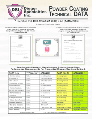 Fillable Online Powder coating technical data - Digger Specialties