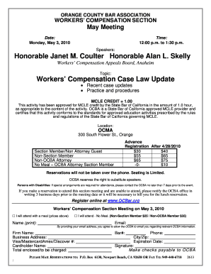 Fillable Online ocbar Honorable Janet M Coulter Honorable