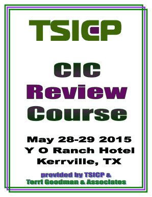 TSICP CIC REVIEW COURSE