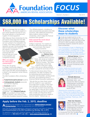 Volume 6 Number 2 Fall 2014 68000 in Scholarships - ararental