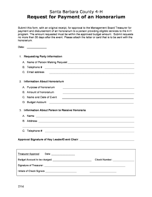 Fillable budget request letter for event - Edit, Print