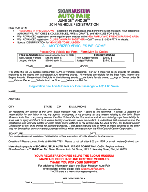 JUNE 28TH AND 29TH 2014 VEHICLE REGISTRATION ALL MOTORIZED - sloanlongway
