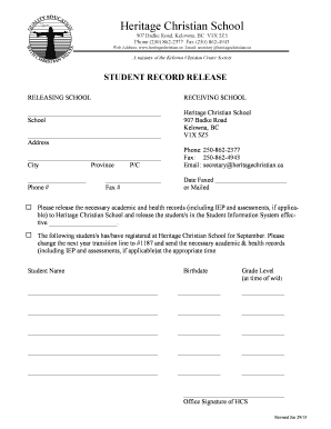 Fillable online ak 03 17 fax email print pdffiller student record release heritage christian school publicscrutiny Gallery