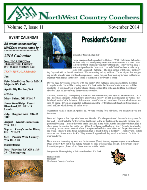 Volume 7 Issue 11 November 2014 - FMCA NW