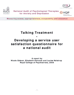 Report 39Talking Treatment - Developing a service user satisfaction bb - rcpsych ac