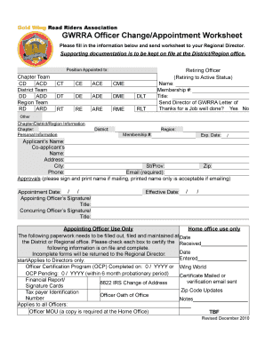 Blank Scholarship Lication Template Operationofficerchangeointmentformver122010pages