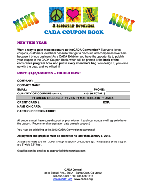 CADA COUPON BOOK - secure cada1
