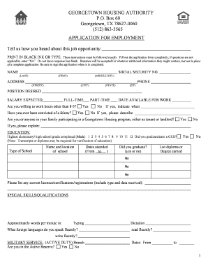 Free Job Applications To Print Out