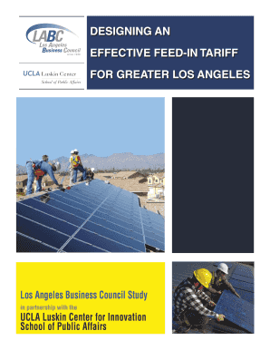 Designing an Effective Feed-in Tariff for Greater Los Angeles - 164 67 121
