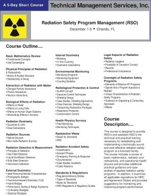 Radiation Safety Program Management (RSO) Fill Online