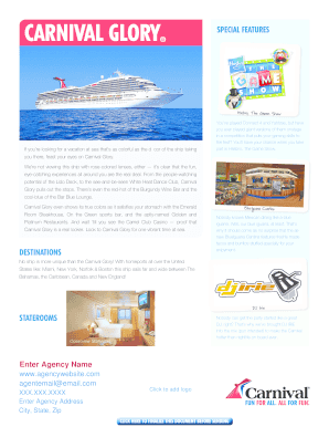 CARNIVAL GLORY SPECIAL FEATURES - gocclcom