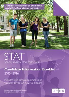 Applicant information booklet.