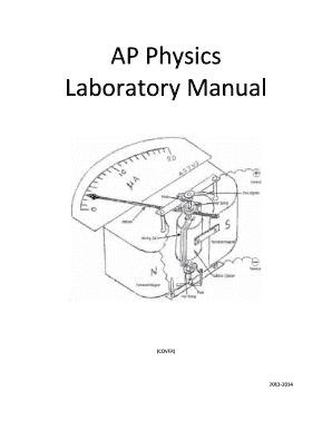 fillable online ap physics laboratory manual great neck public rh pdffiller com ap physics 1 lab manual ap physics 1 and 2 lab manual