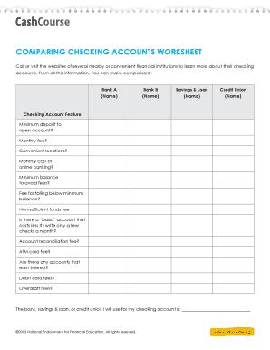 checking account worksheets resultinfos. Black Bedroom Furniture Sets. Home Design Ideas