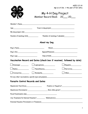 picture about Dog Vaccination Record Printable Pdf identified as Printable pet dog vaccination history e-book - Edit, Fill Out