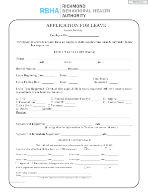 APPLICATION FOR LEAVE   B0374721netsolhostcomb  Application For Leave Form