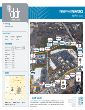 Camp Creek Marketplace - East Point Georgia - Property Flyer Camp Creek Marketplace is a joint venture between DDR and Blackstone Real Estate Partners VII The property is leased and managed by DDR a fully integrated Real Estate Investment