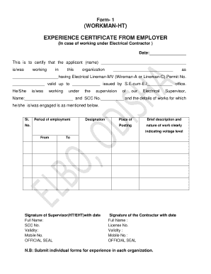 Sample work experience letter from previous employer forms and elbo odisha apply online form thecheapjerseys Choice Image