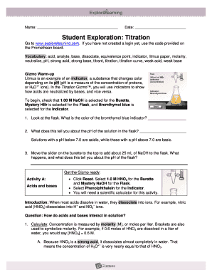 Student Exploration - Fill Online, Printable, Fillable ...