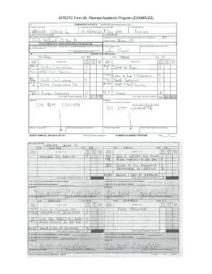 Afrotc Form 48 Pdf