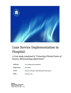 Lean service thesis