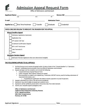 Fillable appeal letter for college admission edit online print appeal letter for college admission altavistaventures Image collections