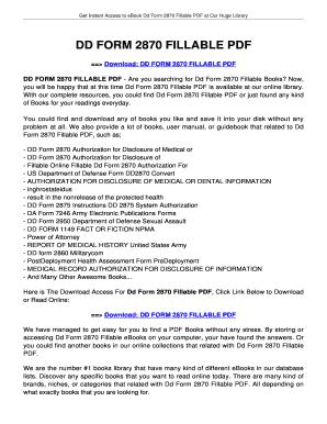 Fillable Online innotexa DD FORM 2870 FILLABLE. DD FORM 2870 ...