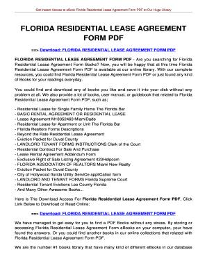 20 Printable Memorandum Of Lease Florida Forms And Templates