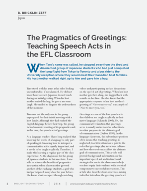 Fillable online the pragmatics of greetings teaching speech acts in fill online m4hsunfo
