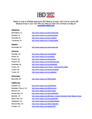 Fillable Online Below is a list of officially sponsored IBD
