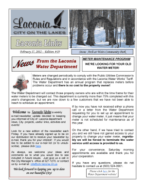 City Of Laconia Water Department