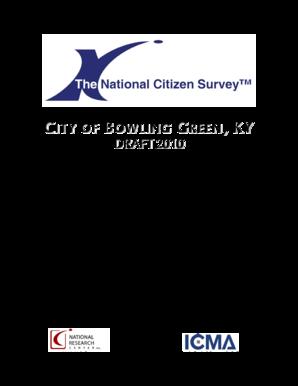 Fillable Online bgky 2010 Citizen Survey Report (PDF) - City of
