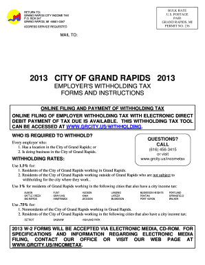 Grand Rapids City Tax Form - Fill Online, Printable, Fillable ...