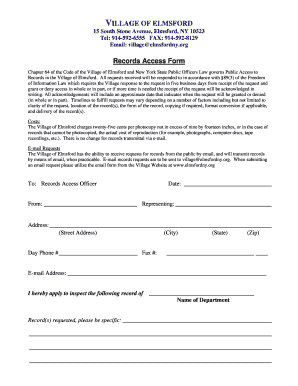Fillable Online elmsfordny Foil Request Form - Elmsford Fire ...