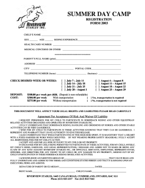 Download Summer Camp Registration Form (PDF)   OoCities