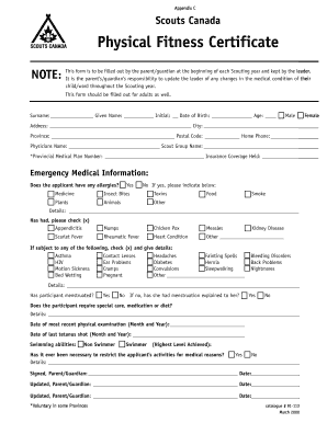 How To Fill The Physical Fitness Form - Fill Online, Printable ...