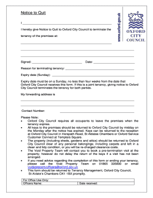 editable notice to quit form fill out print forms download in