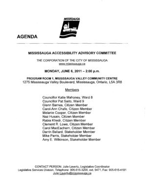 MISSISSAUGA ACCESSIBILITY ADVISORY COMMITTEE - mississauga