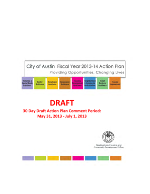 30 Day Draft Action Plan Comment Period: May 31 ... - City of Austin